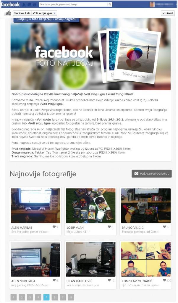 Aplikacija za foto natječaj